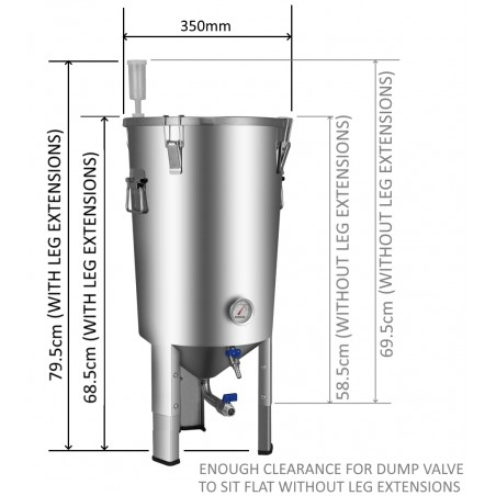 PREORDER-30L BrewDevil SS Conical Fermenter