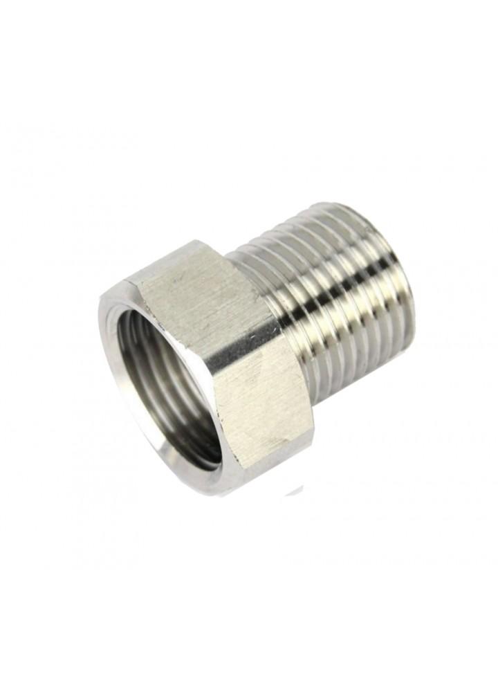 Edelstahl 5/8 Buchse auf 1/2 Stecker Adapter