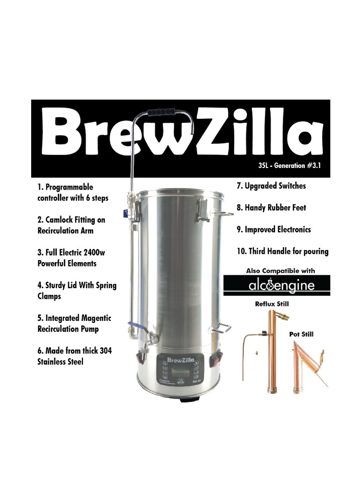 Robobrew / Brewzilla 35L v3.1.1 All-in-one Microbrewery