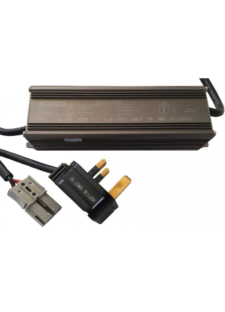 Alimentatore 24v DC (20amp) con connettore Anderson