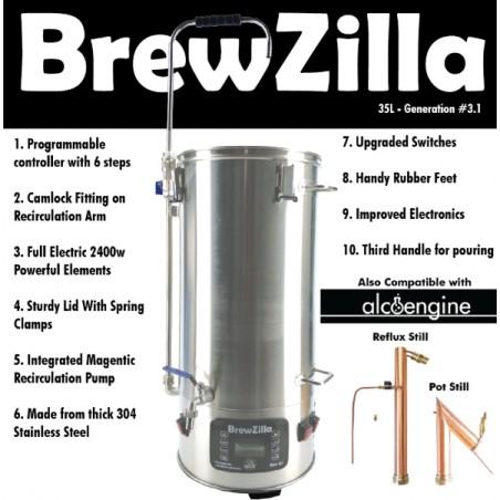 PREORDER-Robobrew / Brewzilla 35L v3.1.1 Package Bundle