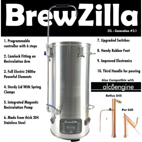 Robobrew / Brewzilla 35L v3.1.1 Package Bundle