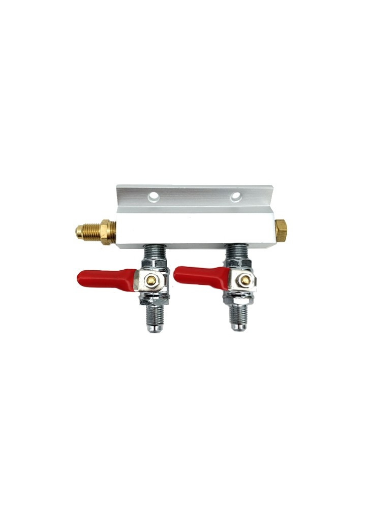 "2 Way Gas Splitter Manifold with 1/4"" MFL Threads"