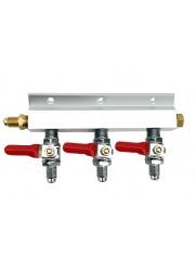 """Manifold séparateur de gaz 3 voies avec filetage MFL 1/4"""""""