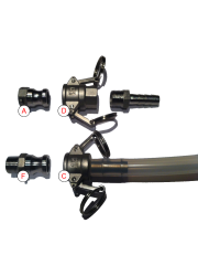 "Kamlock / Camlock 1/2 ""BSP tipo A Aço Inoxidável"