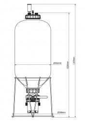 Ferrmzilla 55L Fermenter