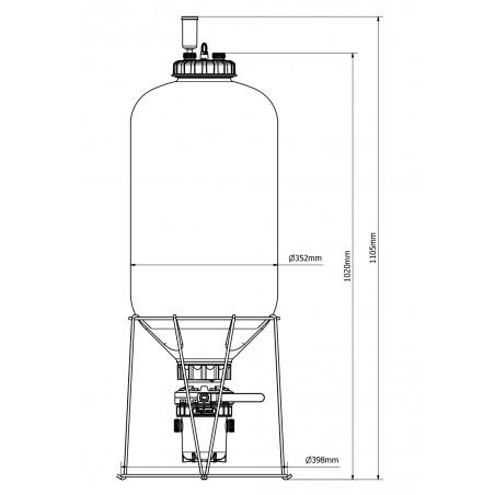 Fermentador Fermzilla 55L