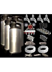 Vierfacher Wasserhahn Kegerator / Keezer Kit