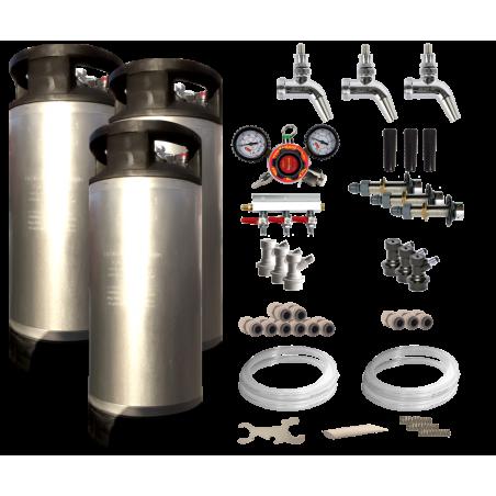 Triple Faucet Kegerator / Keezer Kit
