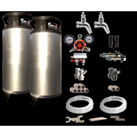Double Faucet Kegerator / Keezer Kit
