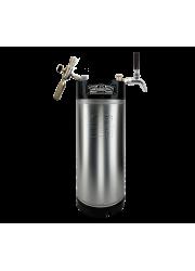 Configuration mobile Corny Keg avec contrôle de flux
