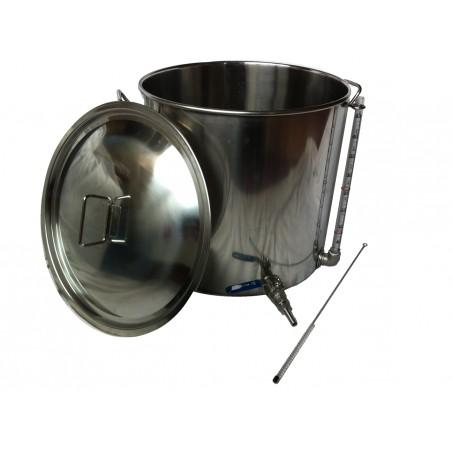 50L Inox Pot aço com Tap e Visor