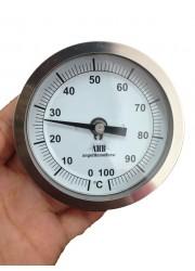 83 milímetros fixo Cabeça de aço inoxidável Termômetro