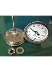 83mm tête fixe en acier inoxydable Thermomètre