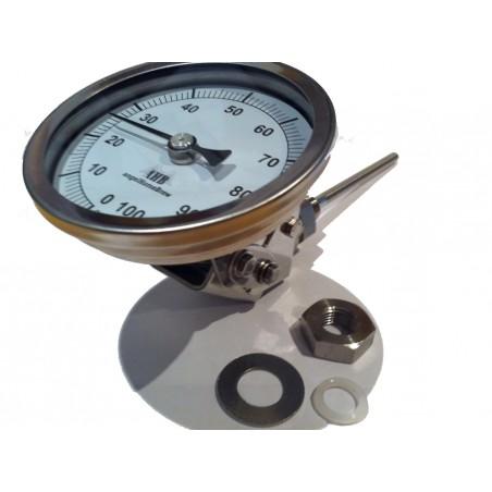 83mm verstellbarem Kopf Edelstahl Thermometer