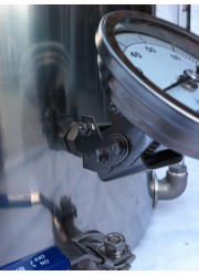 83 milímetros regolabile Cabeça de aço inoxidável Termômetro