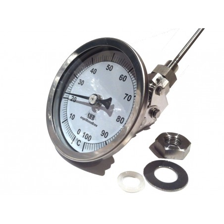 83mm Adjustable Head Stainless Steel Thermometer