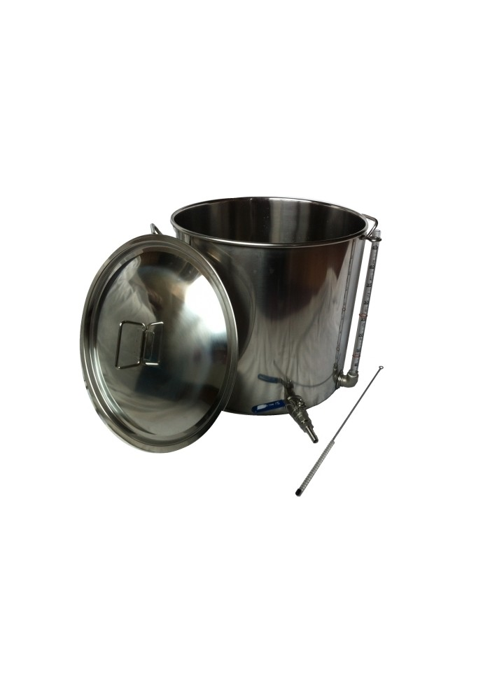 100L Stainless Steel Pot with Tap and Sight Glass