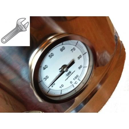 Montaje termómetro termo Pot hundida