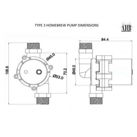 12V homebrew pompe de type 3