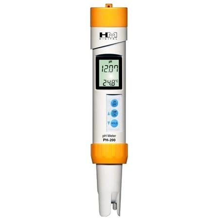 PH-200 HM numérique pH étanche et thermomètre