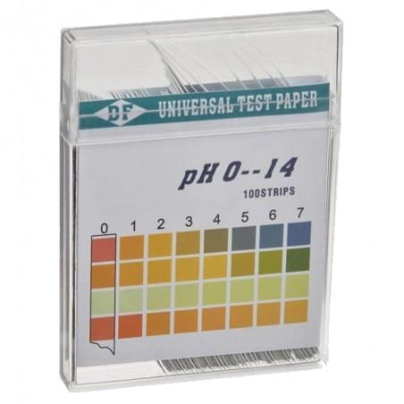 0-14 pH tiras de teste kit (100 cartões)