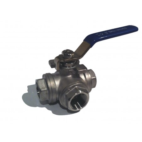 "3 Way 1/2"" BSP Ball Valve"