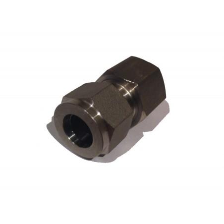 """1/2"""" BSP weiblich bis 1/2"""" Edelstahl Compression Adapter"""