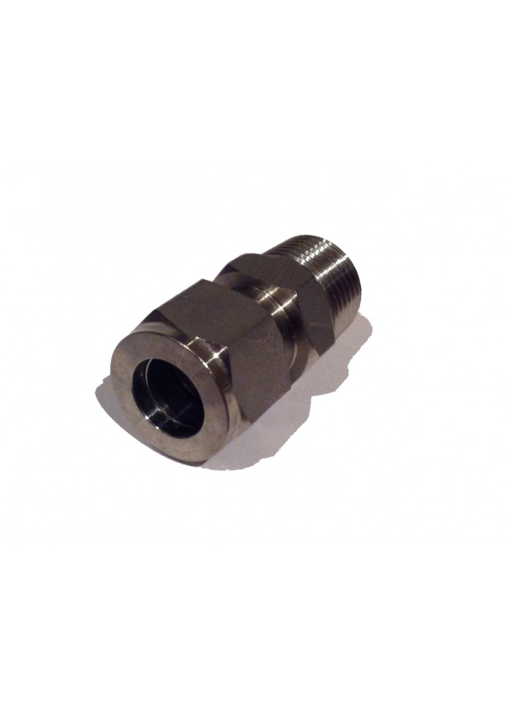 "1/2"" BSP Male bis 1/2"" Edelstahl Compression Adapter"