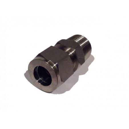 """1/2"""" BSP mâle à 1/2"""" Adaptateur compression en acier inoxydable"""
