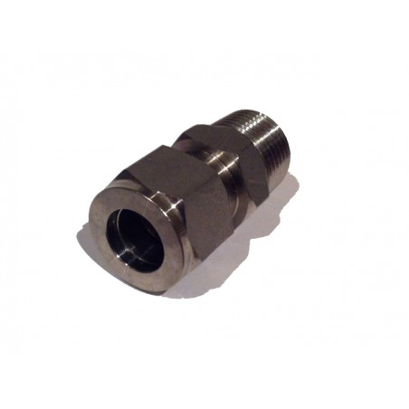"1/2"" Compression to 1/2"" BSP Male Stainless Steel Adapter"