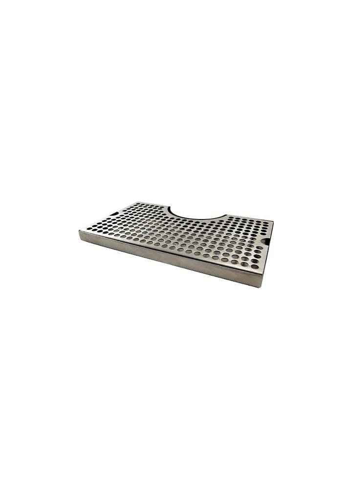 "12"" x 7"" Stainless Steel Drip Tray with Cut Out"