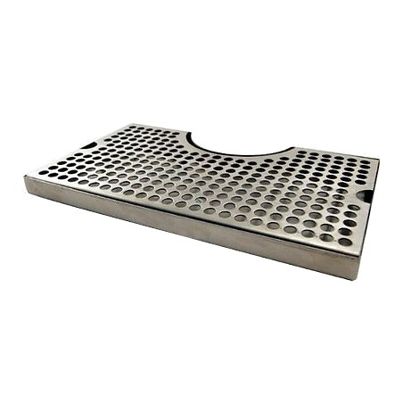 """12"""" x 7"""" Stainless Steel Drip Tray with Cut Out"""