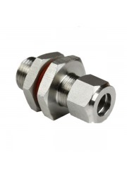 "Nahtlos Bulkhead 1/2"" Compression zu 1/2"" BSP Male"