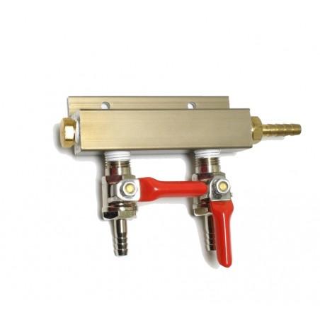 2 Way Splitter Verteiler Gas