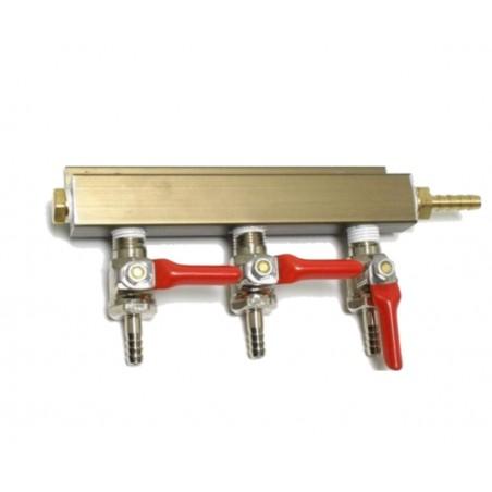 3 voies Splitter de gaz de rampe