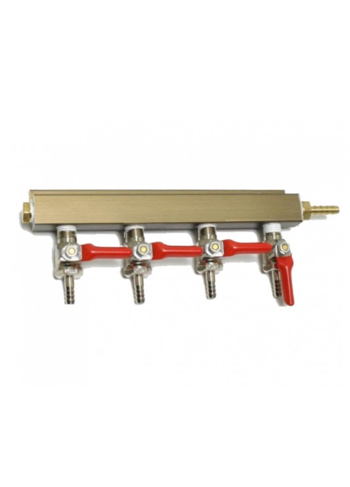 4 Way Gas Splitter Manifold
