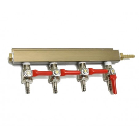 4 Way Splitter Manifold gás