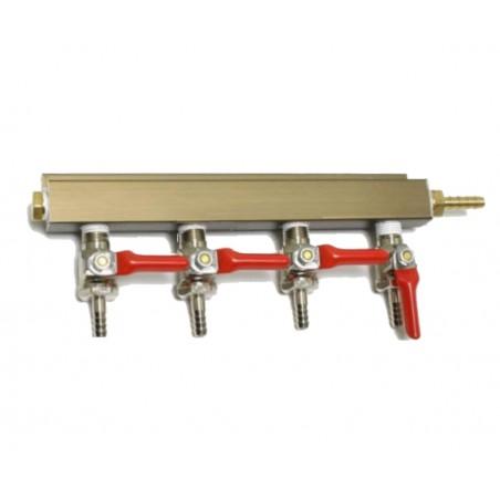 4 Way Splitter Verteiler Gas