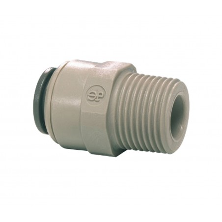 "John Guest 1/4"" NPT Male a 3/8"" Push Fit Adaptor"