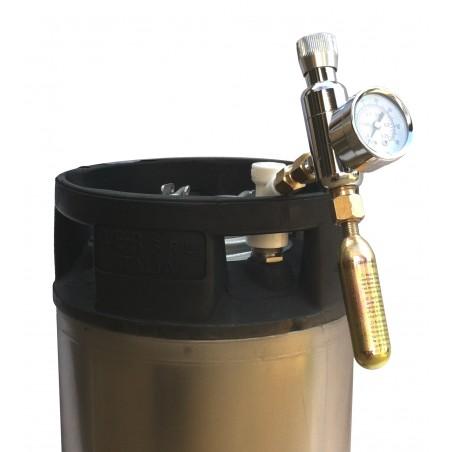 Mini Corny Keg Kit regulador de CO2 de 16g